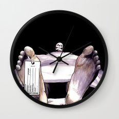 Toe Tag Wall Clock