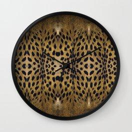 Leopard Pattern Leather Print Wall Clock
