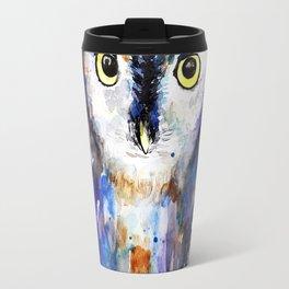 Owl, watercolor Travel Mug