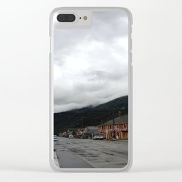 Small Town Alaska Clear iPhone Case