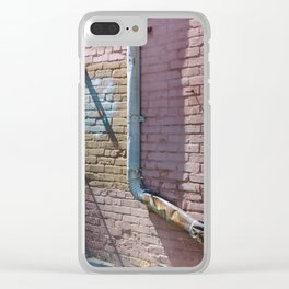 Pastel Street Detail Clear iPhone Case