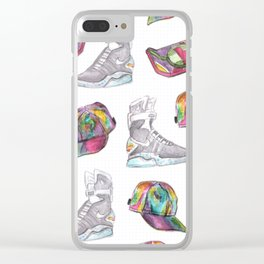 watercolor back to the future 2 Clear iPhone Case