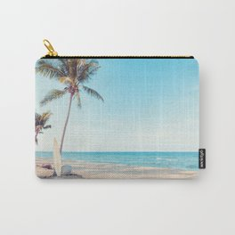 Surfboards on the Beach Carry-All Pouch