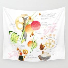 temari sushi Wall Tapestry