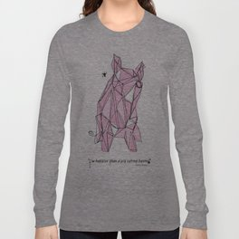"""""""I'm happier than a pig eating bacon!"""" - Lemony Snicket - Long Sleeve T-shirt"""