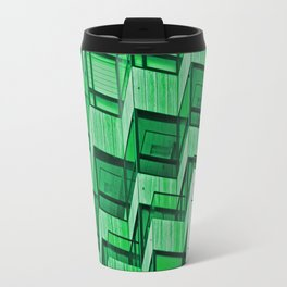 Architectural Abstract in Green Travel Mug