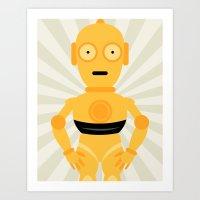 C3PO STAR WARS WALL ART PRINT Neutral Art Print