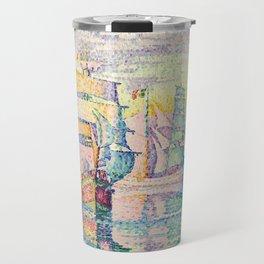 "Paul Signac ""Les bricks-goélettes. Antibes"" Travel Mug"