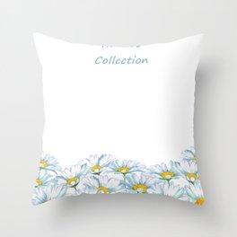 Watercolor Shasta Daisy  Throw Pillow