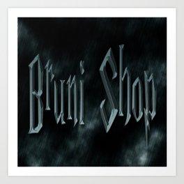 Bruni Shop font Art Print
