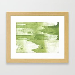Green stained watercolor design Framed Art Print