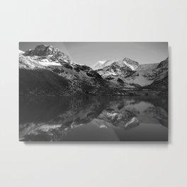 Snow Capped Metal Print