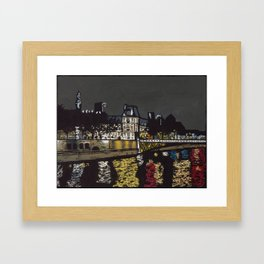 Calm Night By the Seine Framed Art Print
