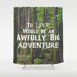 Peter Pan and Forrest Lands Shower Curtain