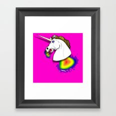 HOMOPHOBIA KILLS UNICORNS  Framed Art Print