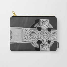 Celtic Stone Cross At Sunset Carry-All Pouch