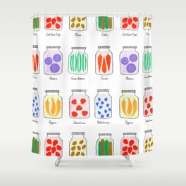 Canning Jars Shower Curtain