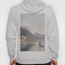 Lake Traun 1840 by Rudolf von Alt | Reproduction Hoody