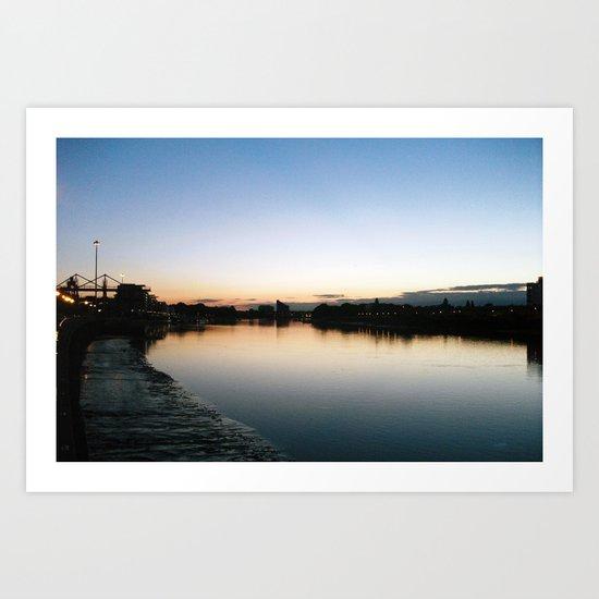 Thames at Night Art Print