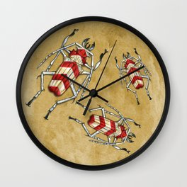 Stripped Psalidognathus Beetle Wall Clock