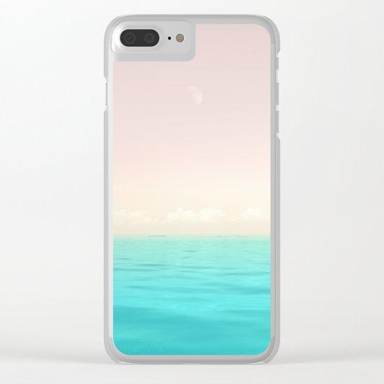Sunset Sea Clear iPhone Case