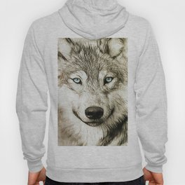 Smokey Sketched Wolf Hoody