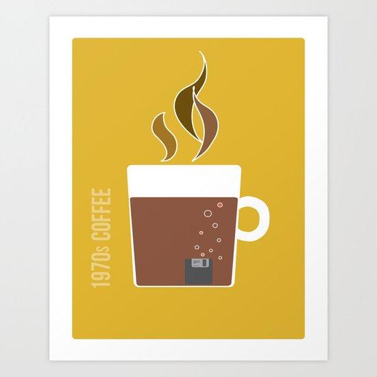 70s Coffee Art Print