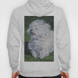Bichon Bolognese dog art from an original painting by L.A.Shepard Hoody