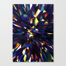 Low Iris Poly Canvas Print