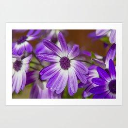 Purple Droplets Art Print