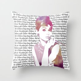 My Audrey Throw Pillow