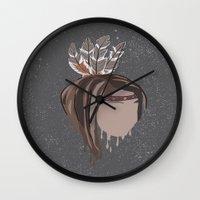indian Wall Clocks featuring INDIAN by Kritika Kripakaran