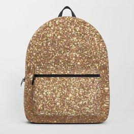 Copper Rose Gold Metallic Glitter Backpack