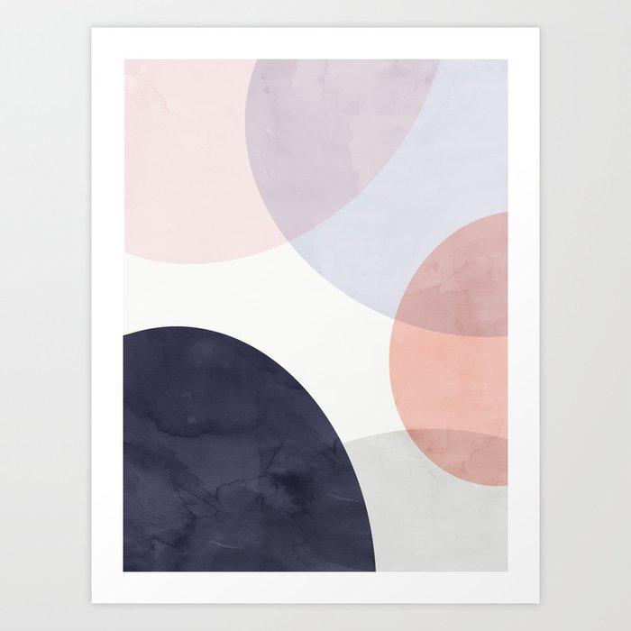 Pastel Shapes IV Art Print