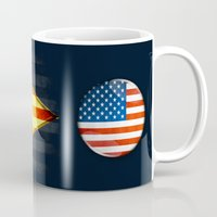 american Mugs featuring American by ilustrarte