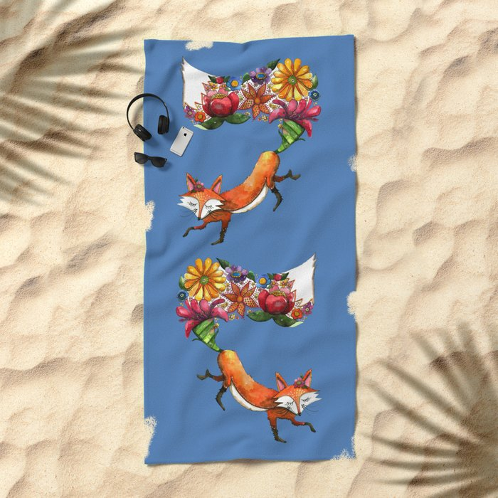 Hunt Flowers Not Foxes Two Beach Towel