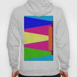 Bright Color Triangles, Pretty Colorful Colorblock Art, Graphic Art Hoody