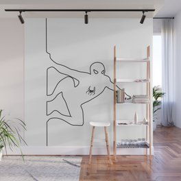 Comic One-line Silhouette No. 9 Wall Mural