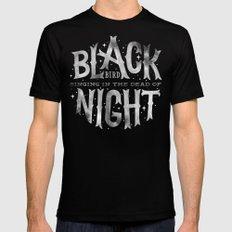 Blackbird Mens Fitted Tee MEDIUM Black
