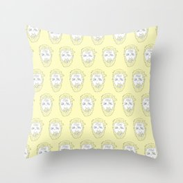 Yellow Hardy Throw Pillow
