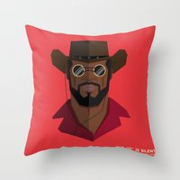 django Throw Pillows featuring Django Unchained by justdan