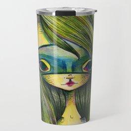 Green Girl Travel Mug