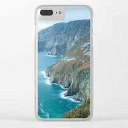 Sea Cliffs of Slieve League Clear iPhone Case