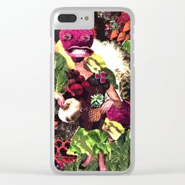 Fruit and Vegetable Salad Surprise Clear iPhone Case