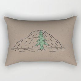 Hand drawn Line art poster Rectangular Pillow