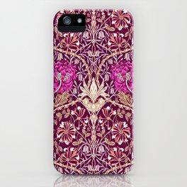 Art Nouveau Floral, Plum, Beige and Deep Purple iPhone Case