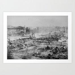 Ruins after the race massacre in Tulsa, Oklahoma, 1921 Art Print