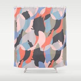 Modern abstract print Shower Curtain