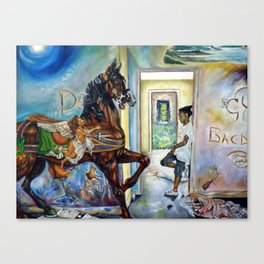 Rescue from the Ruins Canvas Print
