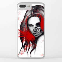 The half-demon half-angel woman V2 Clear iPhone Case